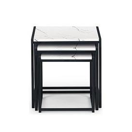 image-Julian Bowen Tribeca Nest Of 3 Tables - White