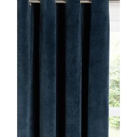 image-John Lewis & Partners Velvet Pair Lined Eyelet Curtains