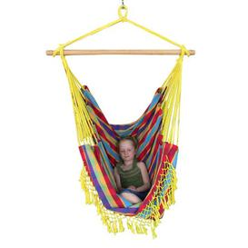 image-Edith Cotton Hanging Chair Freeport Park Colour: Paradise