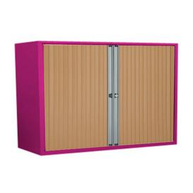 image-Anthracite 2 Door Tambour Unit Brayden Studio Finish/Colour: Fuchsia