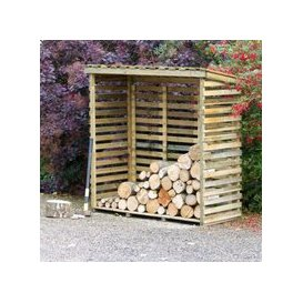 image-Large Log Store with Back Garden Storage