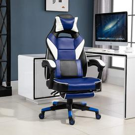 image-Jessup Ergonomic Gaming Chair Ebern Designs Upholstery Colour: Blue