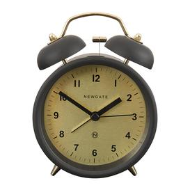 image-Newgate Clocks - Charlie Bell Alarm Clock - Matt Gravity Grey