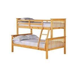 image-Porto Triple Wooden Bunk Bed In Pine