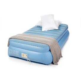 image-Aerobed Raised Single Air Bed with Built-in Electric Pump