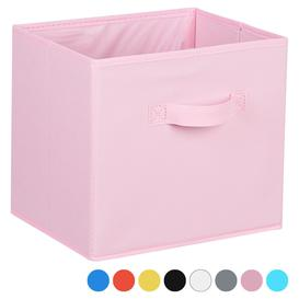 image-Hartleys Fabric Storage Box for 2, 3 & 4 Tier Cube Units - Pink