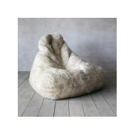 image-Ivory Sheepskin Beanbag