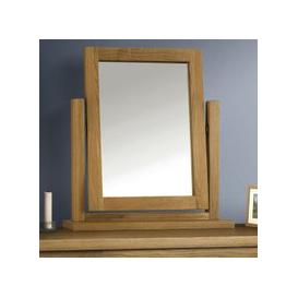 image-Marlborough Dressing Table Mirror With Waxed Oak Frame