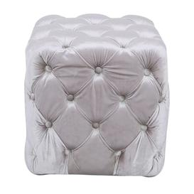 image-Newent Soft Pink Tufted Stool