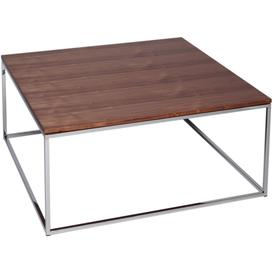 image-Westminster Walnut and Stainless Steel Square Coffee Table