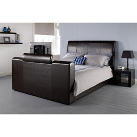 image-Michael 5.0 Tv Kingsize Black Faux Leather Bed