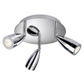 image-Firstlight 8383CH Storm LED Chrome 3 Light IP44 Bathroom Spot Light