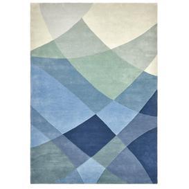 image-Rhythmic Tides Indigo Rug - 200 x 300 cm / Blue / Wool