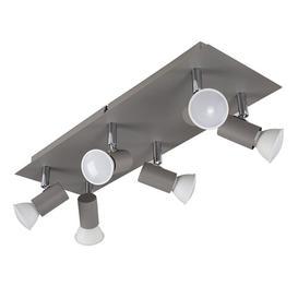 image-Laverne 6-Light Ceiling Spotlight Zipcode Design Finish Fixture: Cement/Chrome