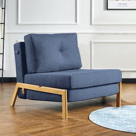 image-Farlow 1 Seater Futon Chair Corrigan Studio Upholstery Colour: Blue