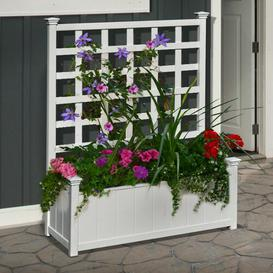 image-Huron Plastic Planter Box with Trellis Sol 72 Outdoor