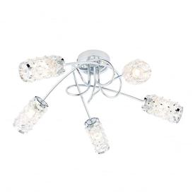 image-Bronx bathroom semi flush 5 light dimmable chrome ip44 - 90213.