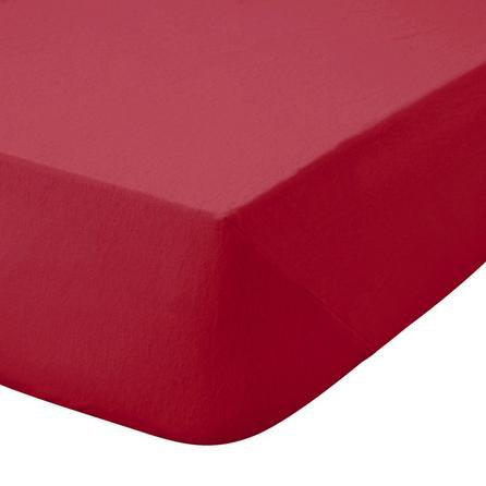 image-Kids Non Iron Plain Dye Red 25cm Fitted Sheet Red