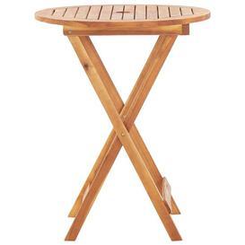 image-Amar Folding Wodden Bar Table Sol 72 Outdoor Size: 75cm H x 60cm W x 60cm D, Colour: Brown