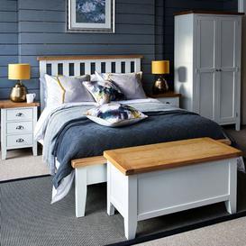 image-Tetbury Painted Oak Bed Frame King W150cm
