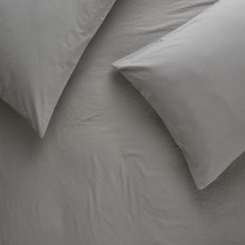 image-Washed Grey Single Duvet Cover Set, Grey