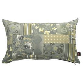 image-Chaska Cushion with filling Fleur De Lis Living Colour: Grey/Green
