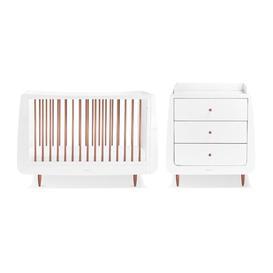 image-Skandi Cot Bed 2 Piece Nursery Furniture Set Snuz Colour: Rose Gold