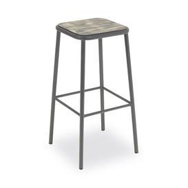 image-Wordsworth 72cm Bar Stool Sol 72 Outdoor Colour: Grey