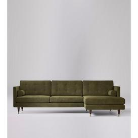 image-Swoon Porto Corner Sofa in Racing Green Smart Leather