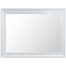image-Hampstead Oak and White Painted Rectangular Wall Mirror - 120cm x 90cm White Painted