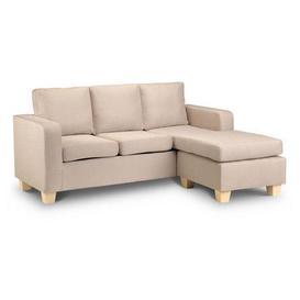 image-Dani Compact Fabric Corner Chaise Sofa Beige