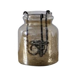 image-Shila Bronze Large Glass Lantern