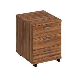 image-Avoca Under Desk Mobile Pedestal, Walnut, Free Next Day Delivery