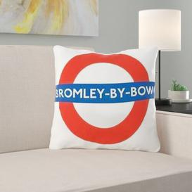image-Gulf Breeze Bromley By Bow Tube Station Cushion London Transport