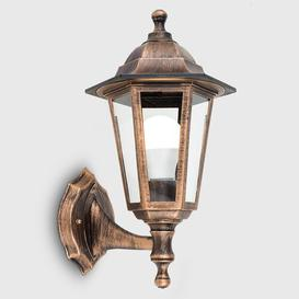 image-Mcmahan 1 Light Outdoor Wall Lantern Marlow Home Co. Finish: Black/Gold