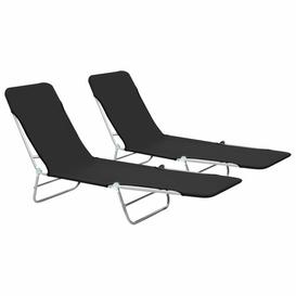 image-Elior Sun Lounger Sol 72 Outdoor Colour: Black