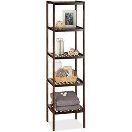 image-Ferree 139.5Cm W x 34.5Cm H x 33Cm D Free Standing Bathroom Shelves