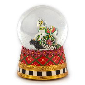 image-MacKenzie-Childs - Carousel Horse Snow Globe