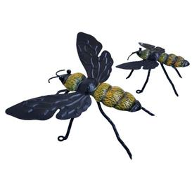 image-2 Piece Bee Metal Wall Décor Set August Grove