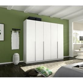 image-Alabama 5 Door Wardrobe Rauch Interior Finish: Premium, Colour: Alpine white