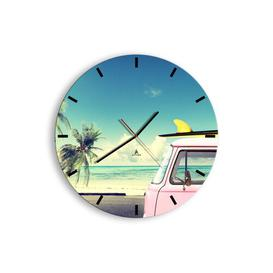 image-Mirabel Silent Wall Clock Beachcrest Home Size: 50cm H x 50cm W x 0.4cm D
