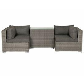 image-Finch 2 Seater Rattan Sofa Set Sol 72 Outdoor Colour: Grey