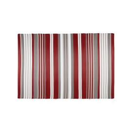 image-ESPELETTE Red and White Striped Fabric Outdoor Rug 180x270