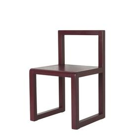image-Little Architect Children's chair - / Wood by Ferm Living Burgundy