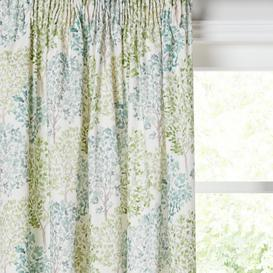 image-John Lewis & Partners Leckford Trees Pair Lined Pencil Pleat Curtains