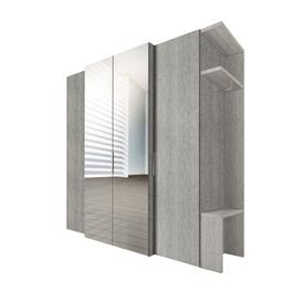 image-One 4 Door Wardrobe Express M├╢bel Colour: Platinum oak colours