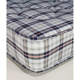 image-Alessia Check Fabric Orthopaedic Coil Spring Double Mattress