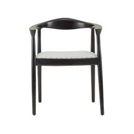 image-Formosa Natural Teak Wood Chair With Grey Leather