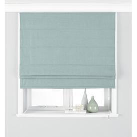 image-Bergevin Room Darkening Roman Blind Brambly Cottage Size: 122 W x 137 L cm, Finish: Duck Egg Blue