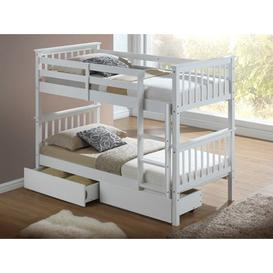 image-Artisan Hudson Wooden Bunk Bed,White